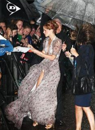 Emma Watson was about to sign autograph for her fans when she lost control over her dress.