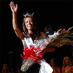 Sarah Slocum reaction after winning the crown